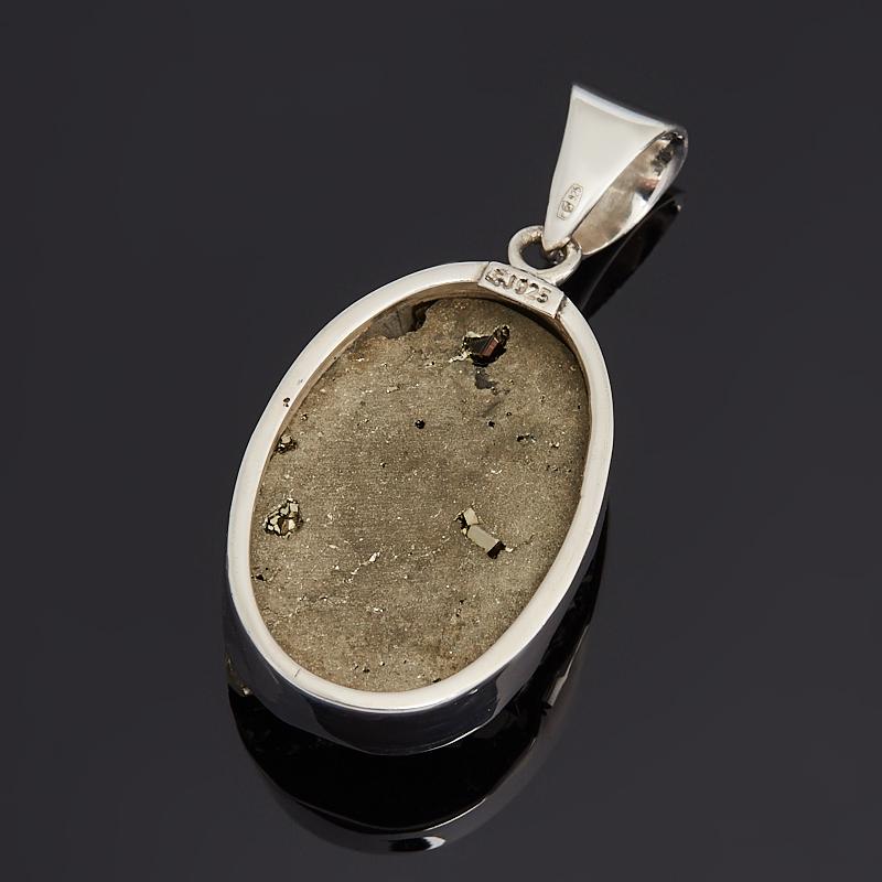 Кулон пирит Перу (серебро 925 пр.) овал