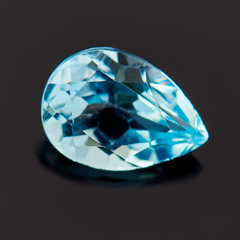 Огранка топаз голубой  5*7 мм