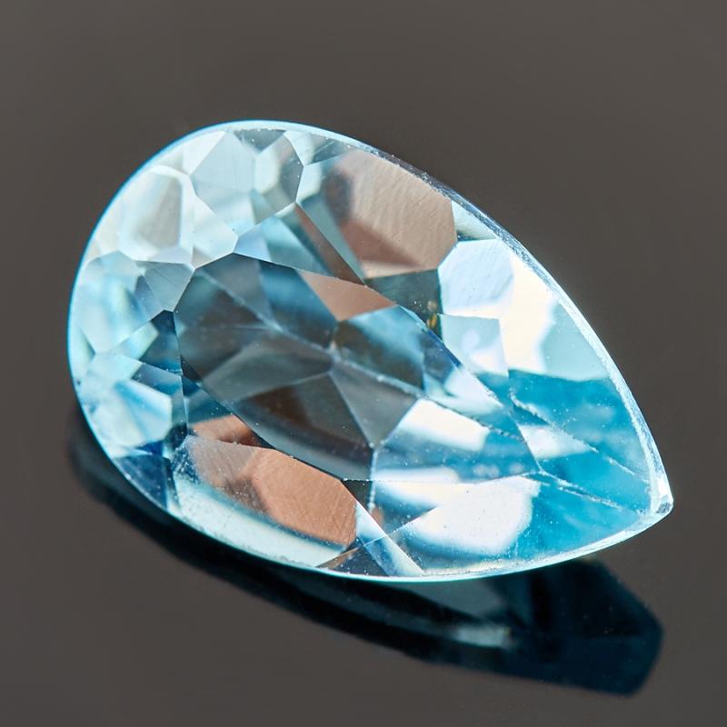 Огранка топаз голубой  8*12 мм