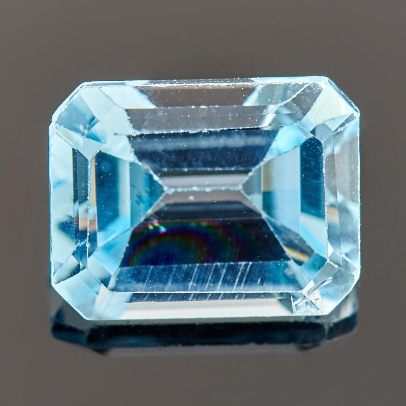 Огранка топаз голубой  7*9 мм
