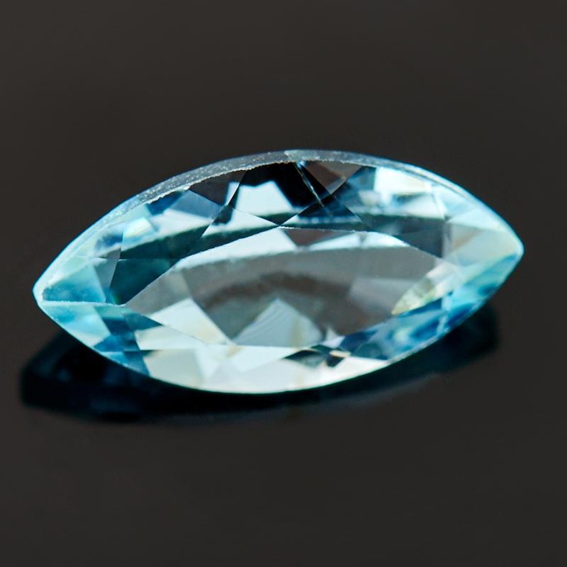 Огранка топаз голубой  5*10 мм