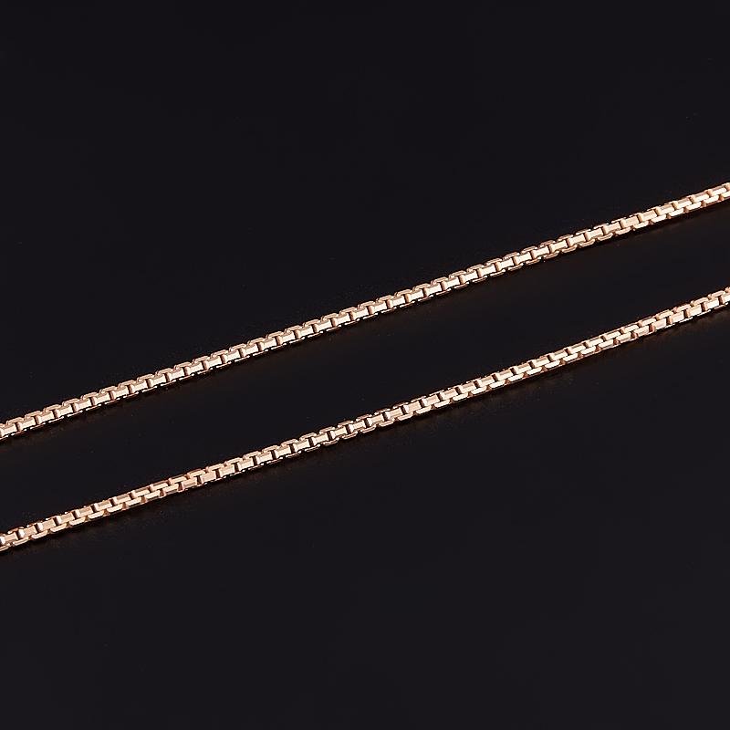 Цепь полновесная якорь 45 см (серебро 925 пр. позолота)