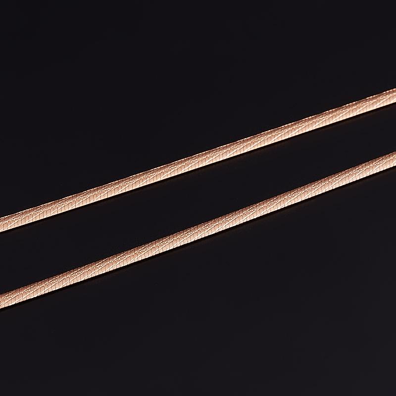 Цепь полновесная 40 см (серебро 925 пр. позолота)