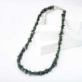 Бусы клинохлор (серафинит) Россия (биж. сплав) 46 см (+7 см)