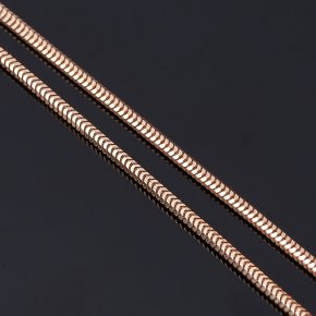 Цепь (серебро 925 пр. позолота) полновесная снейк 55 см