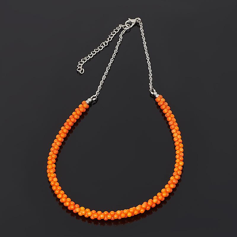 Бусы коралл оранжевый (биж. сплав) 48 см (+7 см) бусы teosa цвет фиолетовый оранжевый tur 32 50