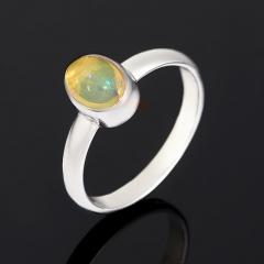 Кольцо опал благородный желтый Эфиопия (серебро 925 пр. родир. бел.) размер 17,5