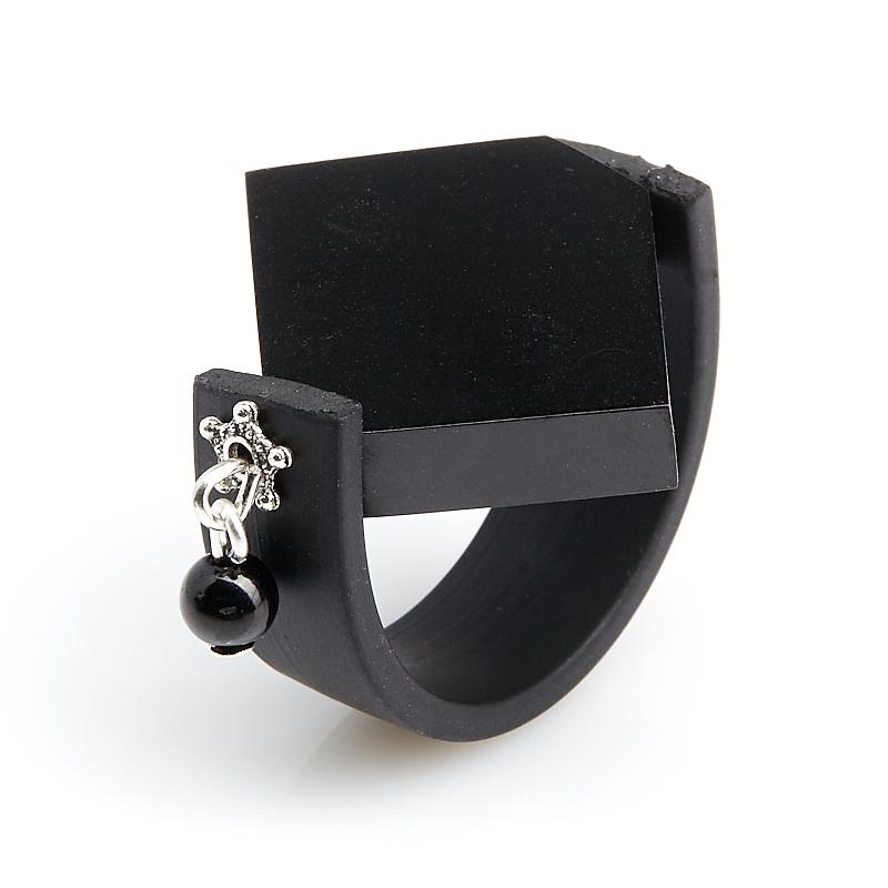 Кольцо гагат Грузия (биж. сплав) (регулируемый) размер 17
