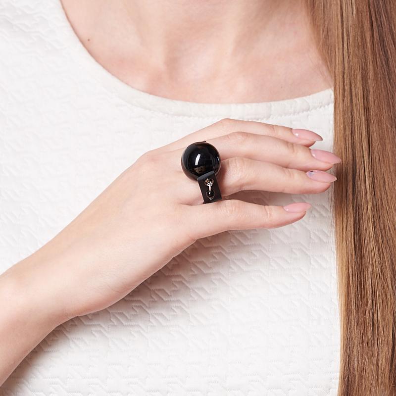 Кольцо гагат Грузия (биж. сплав) (регулируемый) размер 16,5