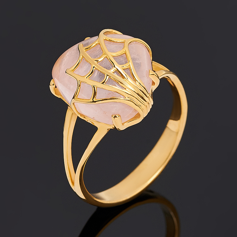 Кольцо розовый кварц (серебро 925 пр. позолота) размер 19 кольцо розовый кварц серебро 925 пр позолота размер 17 5