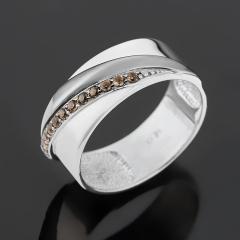 Кольцо раухтопаз Бразилия (серебро 925 пр. родир. бел., родир. черн.) огранка размер 18