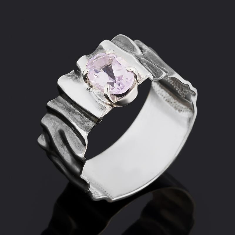 Кольцо аметист (серебро 925 пр. родир. бел., родир. черн.) огранка размер 17