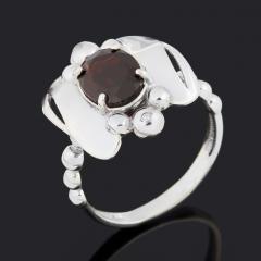 Кольцо гранат альмандин Индия (серебро 925 пр. родир. бел.) огранка размер 18,5