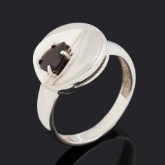 Кольцо гранат альмандин Индия (серебро 925 пр. родир. бел.) огранка размер 17
