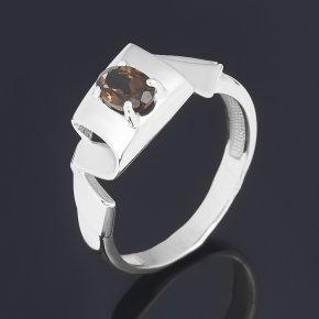 Кольцо раухтопаз Бразилия (серебро 925 пр. родир. бел.) огранка размер 17,5