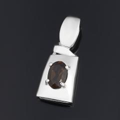Кулон раухтопаз Бразилия (серебро 925 пр. родир. бел.) огранка