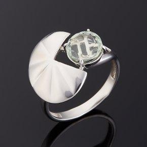 Кольцо празиолит Бразилия (серебро 925 пр. родир. бел.) огранка размер 17,5
