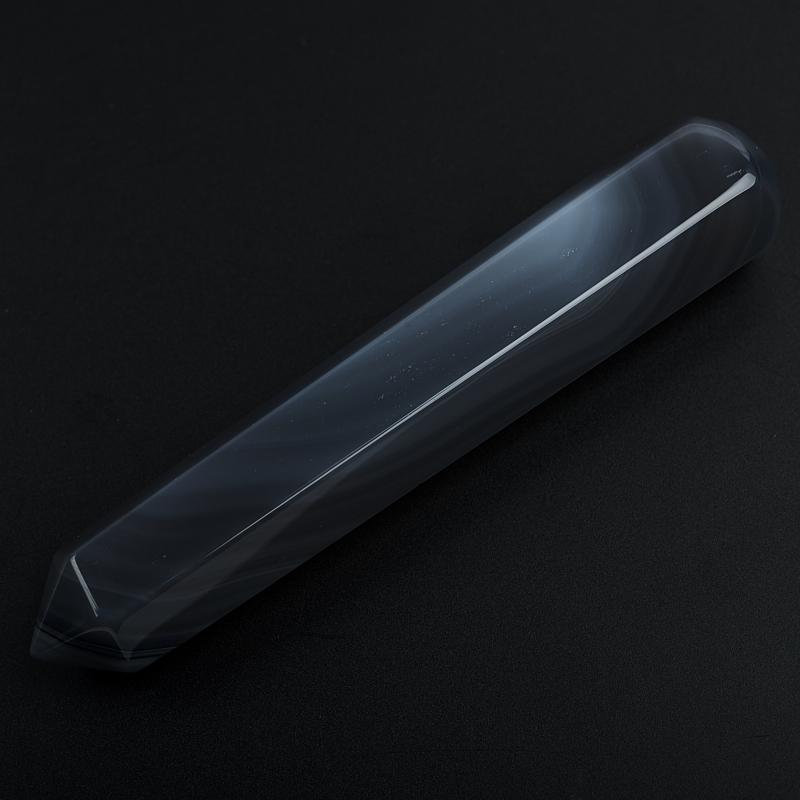 Массажная палочка агат серый Ботсвана 10-12 см