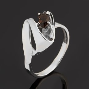 Кольцо раухтопаз Бразилия (серебро 925 пр. родир. бел.) огранка размер 18