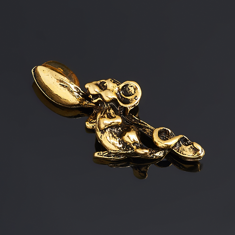 цены Денежный талисман янтарь (латунь) (мышь кошельковая) 2,5 см