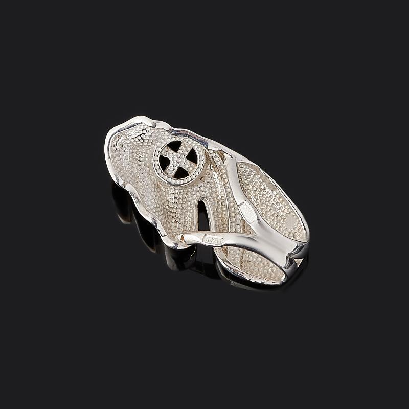 Кулон раухтопаз Бразилия (серебро 925 пр. родир. бел., родир. черн.) огранка