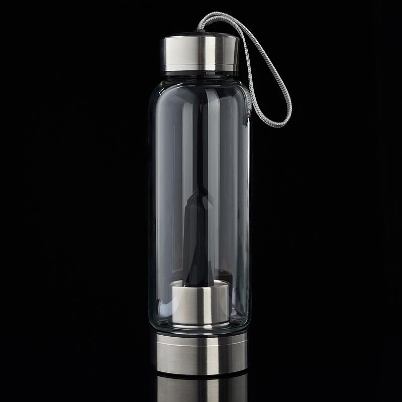Посуда обсидиан черный (бутылка) 21 см
