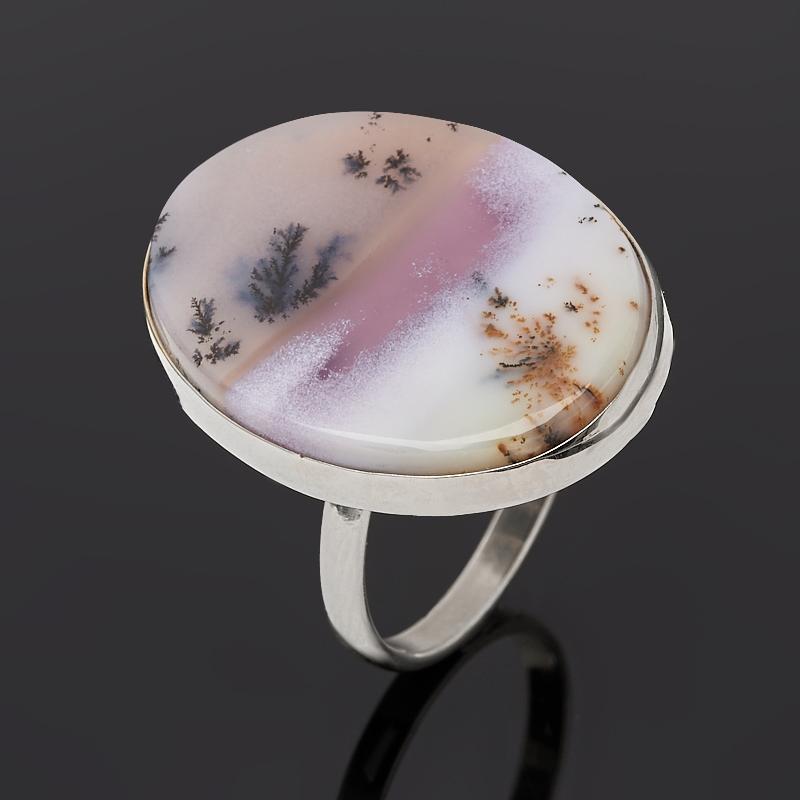 Кольцо агат пейзажный (дублет) (нейзильбер) размер 18