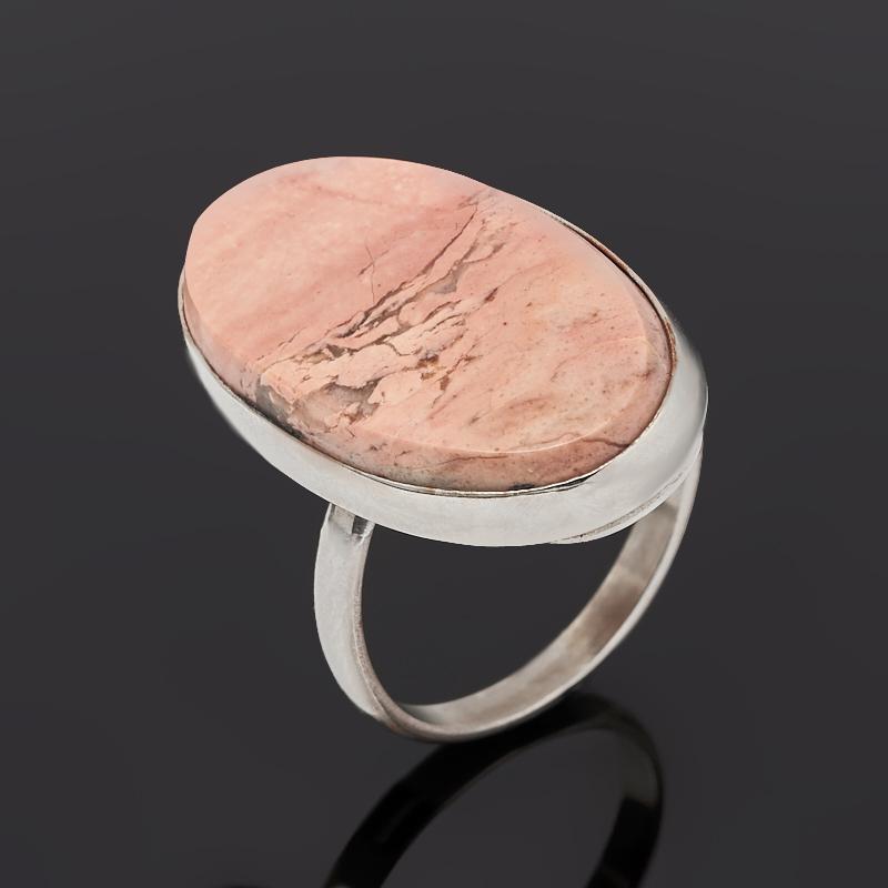 Кольцо яшма уральская (нейзильбер) размер 18,5