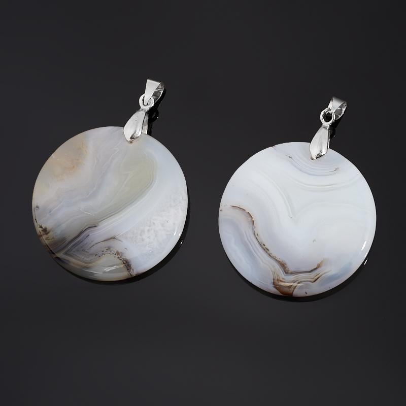 Кулон агат серый (биж. сплав) круг 5 см кулон жадеит круг 4 5 см