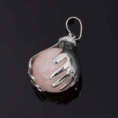 Кулон розовый кварц Бразилия (биж. сплав) 3,5 см