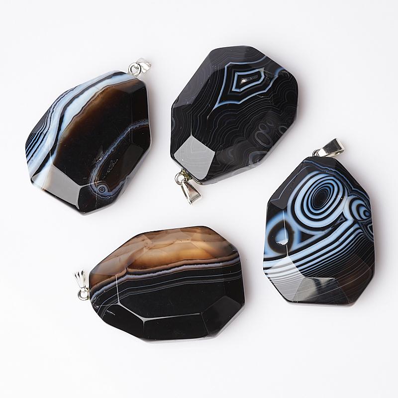 Кулон агат черный (биж. сплав) огранка 5 см серьги бижутерные мастерская крутовых см 0167 агат агат 5 5 см см 0167 черный