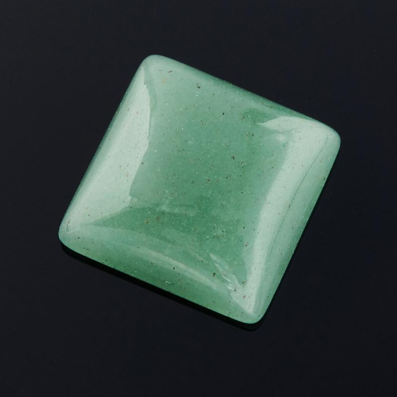 Кабошон авантюрин зеленый  15*15 мм бусина авантюрин зеленый шайба 6 6 5 мм 1 шт