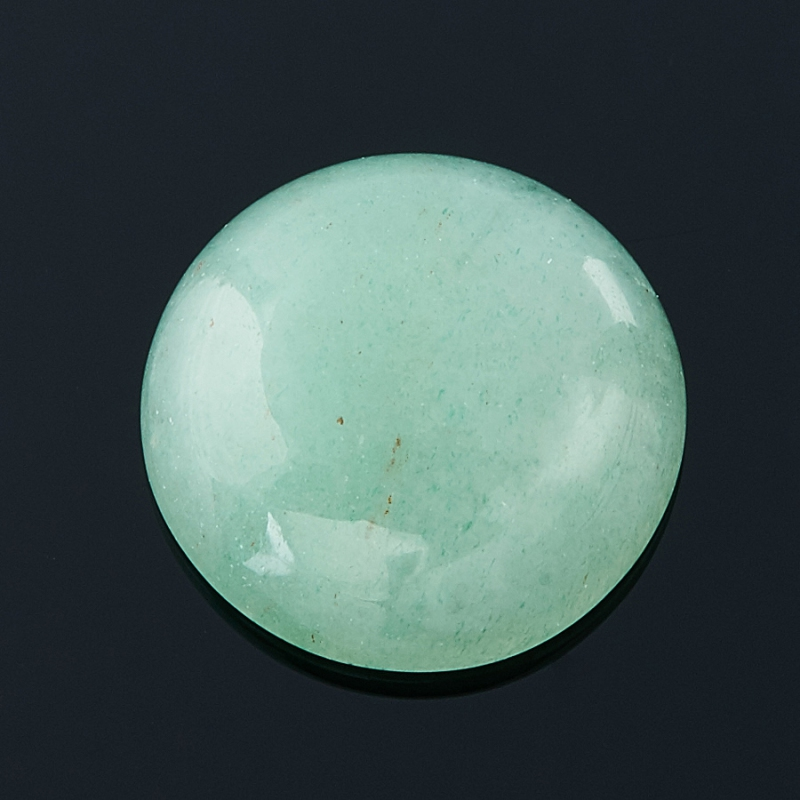 Кабошон авантюрин зеленый  10 мм