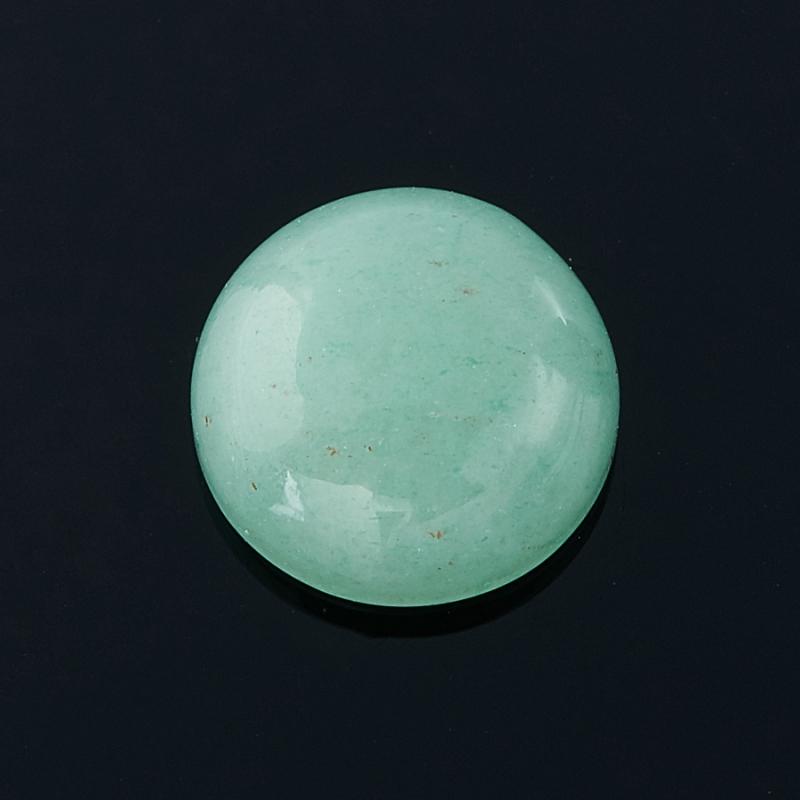 Кабошон авантюрин зеленый  8 мм