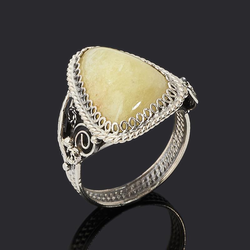 Кольцо турмалин желтый (дравит) (нейзильбер) размер 18,5