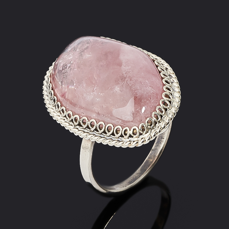 Кольцо турмалин розовый (рубеллит) (нейзильбер) размер 16,5