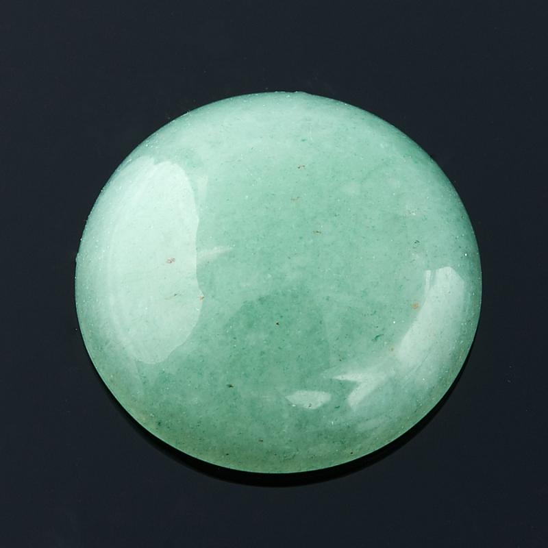 Кабошон авантюрин зеленый  15 мм бусина авантюрин зеленый шайба 6 6 5 мм 1 шт