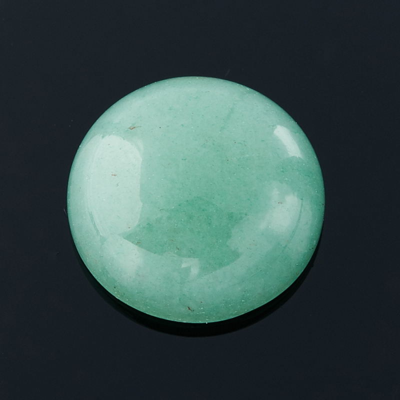 Кабошон авантюрин зеленый  12 мм