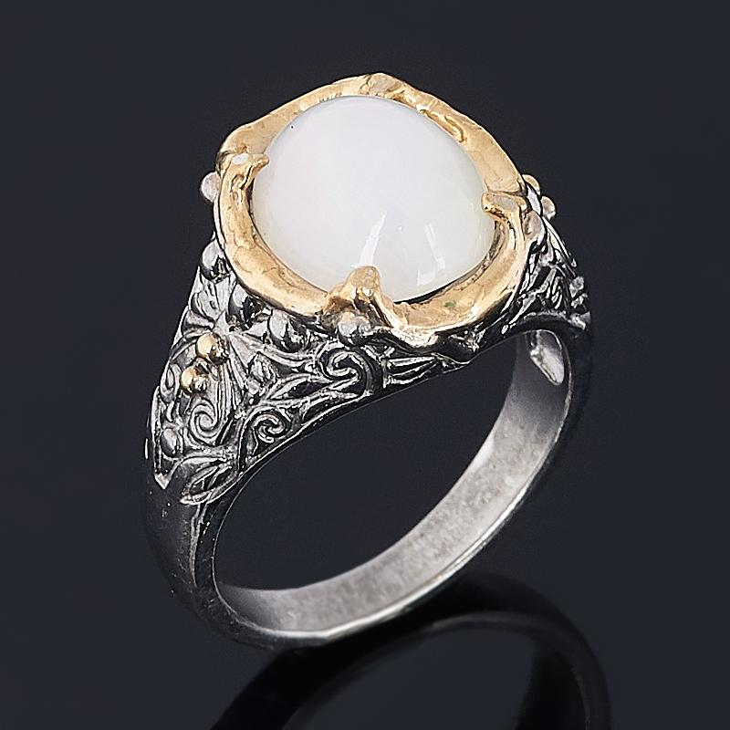Кольцо опал благородный белый (серебро 925 пр. позолота, родир. сер.) размер 18,5 кольцо опал розовый серебро 925 пр позолота родир сер размер 18
