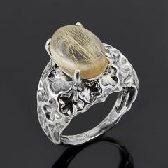 Кольцо рутиловый кварц Бразилия (серебро 925 пр. оксидир.) размер 18