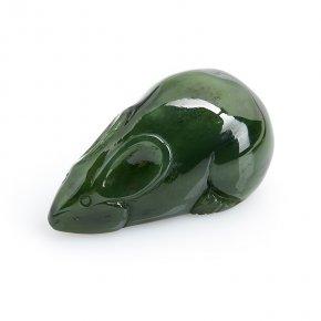 Мышка нефрит зеленый Россия 5 см
