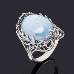 Кольцо кианит синий Конго (серебро 925 пр. оксидир.) размер 18,5