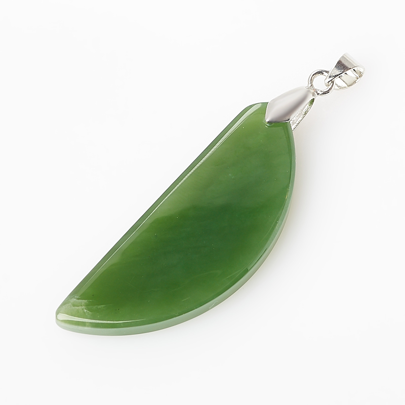 Кулон нефрит зеленый (биж. сплав) 6 см елочная игрушка нефрит зеленый 5 см