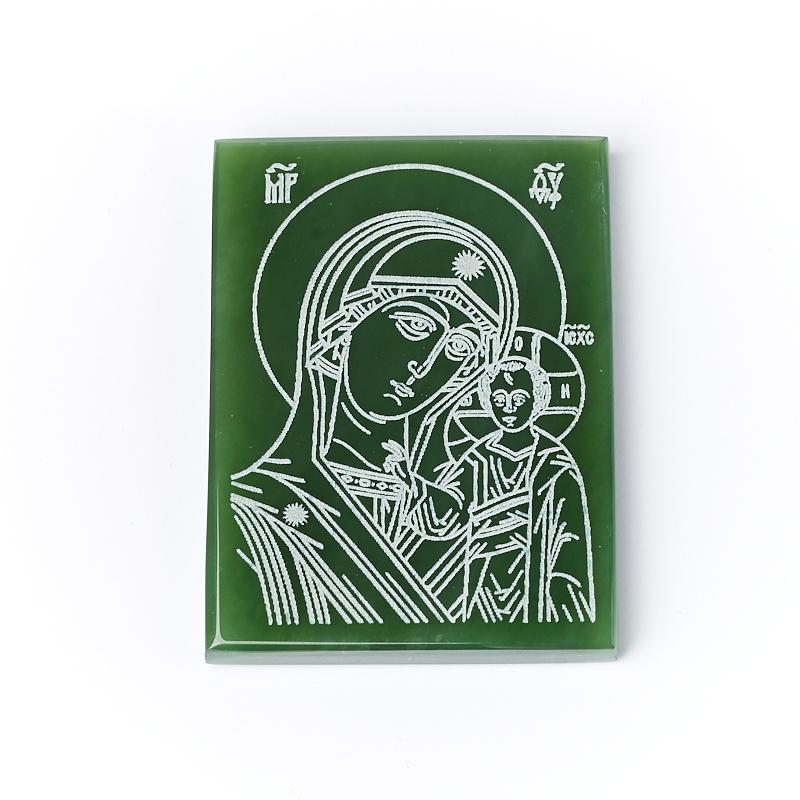 Фото - Изображение Богоматерь Казанская нефрит зеленый 5,5х4 см изображение янтарь богоматерь владимирская 13х16 см