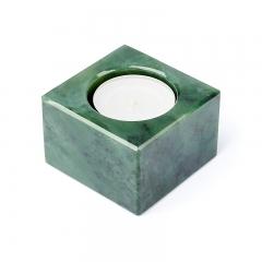 Подсвечник нефрит зеленый Россия 6х6х4 см
