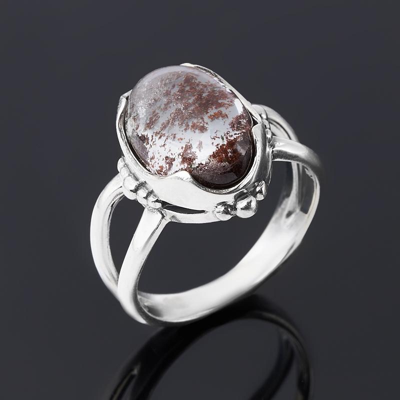 Кольцо кварц с хлоритом (серебро 925 пр. оксидир.) размер 18