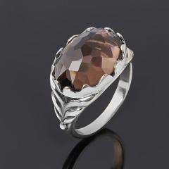 Кольцо раухтопаз Бразилия (серебро 925 пр. оксидир.) огранка размер 17,5
