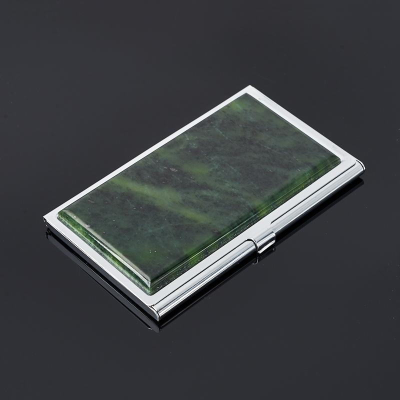 Визитница нефрит зеленый (биж. сплав) 9,5х5,5 см визитница fix yo 20