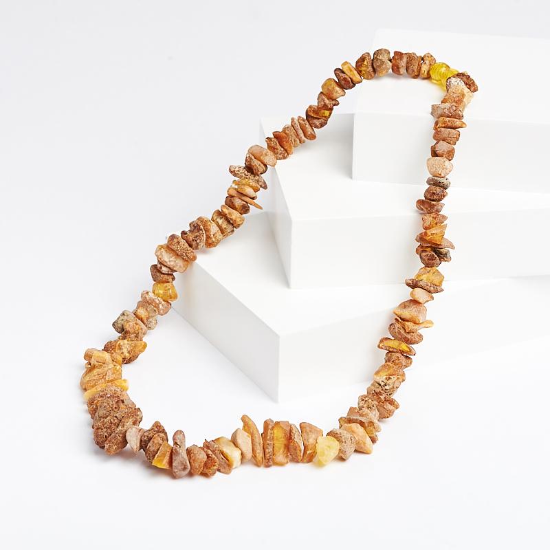 Бусы янтарь (пластик) 50 см