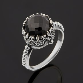 Кольцо шпинель Шри Ланка (серебро 925 пр. оксидир.) огранка размер 17,5